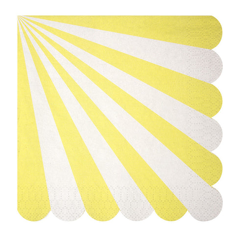 Toot Sweet Yellow Stripe Large Paper Napkin - Lemonade Occasions