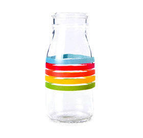 Traditional Glass Rainbow Milk Bottle - Lemonade Occasions