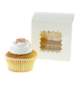 White Individual Cupcake Boxes (Pack of 6) - Lemonade Occasions