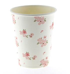 White Floral Cups - Lemonade Occasions
