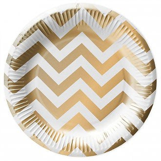 White Gold Paper Plates - Lemonade Occasions