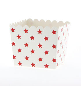 White with Red Star Treat Box - Lemonade Occasions