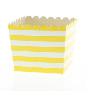 Yellow Striped Treat Box - Lemonade Occasions