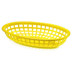 Yellow Plastic Oval Food Baskets - Lemonade Occasions