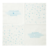 Blue Happy Birthday Napkins