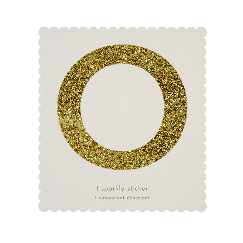 Chunky Gold Glitter O Sticker