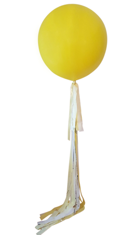 Luscious Lemon Fancy Jumbo Balloon and Streamers