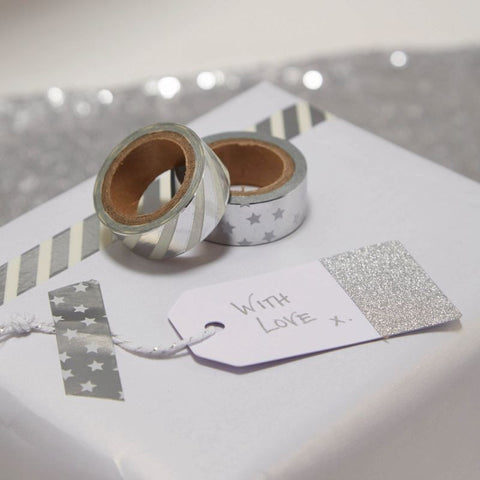 Silver Foiled Washi Tape - Lemonade Occasions