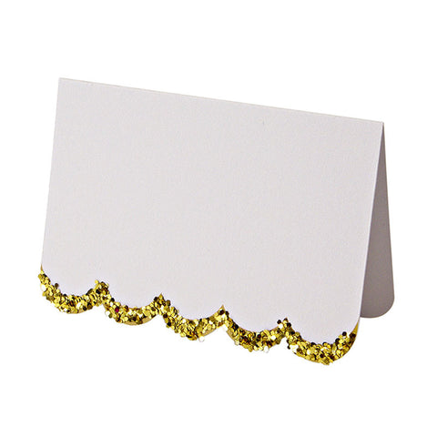 Gold Glitter Chunky Placecards - Lemonade Occasions