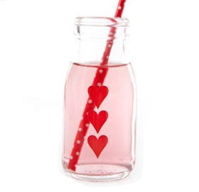 Traditional Glass Heart Milk Bottle - Lemonade Occasions
