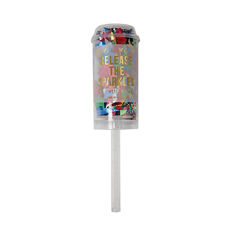 Multi Coloured Metallic Confetti Popper - Lemonade Occasions