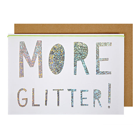 More Glitter Christmas Card - Lemonade Occasions