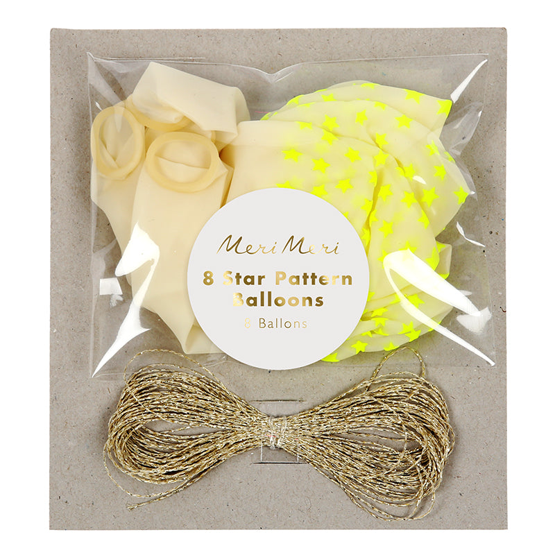 Neon Yellow Star Balloons