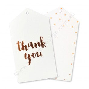 Rose Gold Thank You Tags - Illume Partyware
