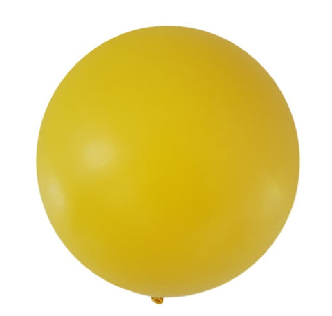 "36"" Big and Round Yellow Balloon"
