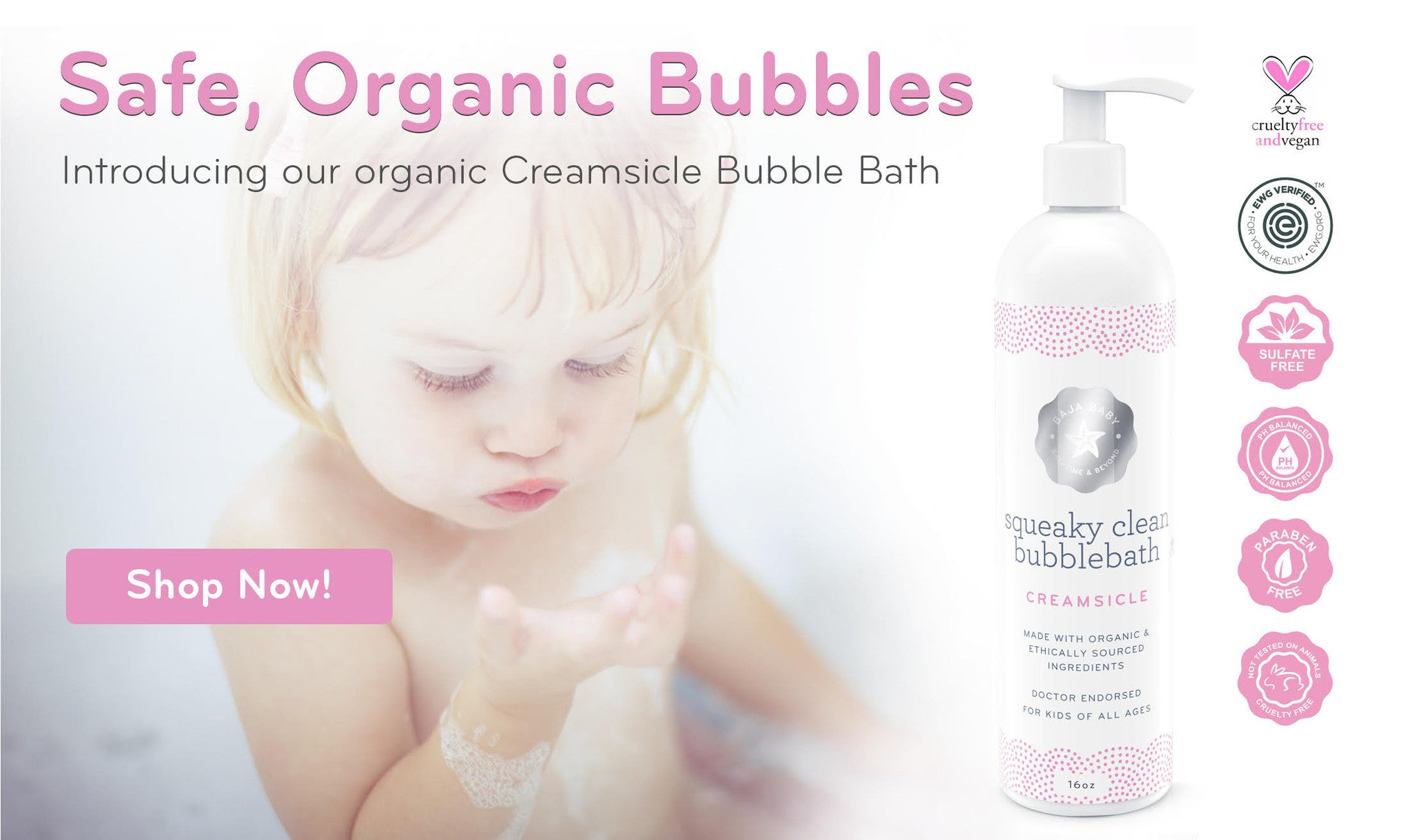 Baja Baby Creamsicle Bubble Bath