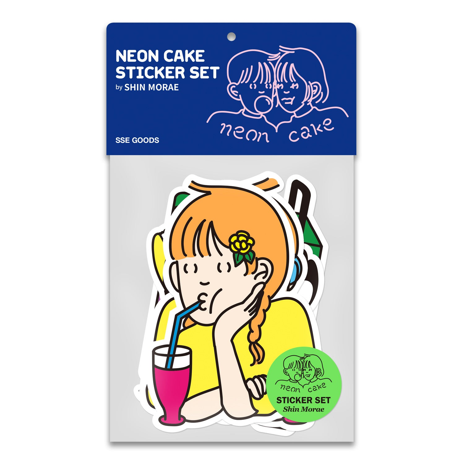 Neon Cake Sticker SET