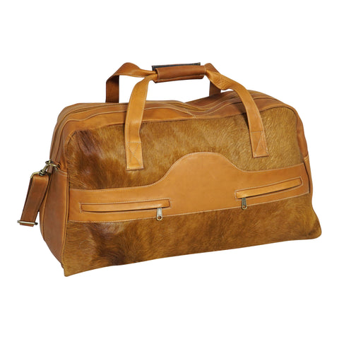 Cowhide Travel Bag - Tan