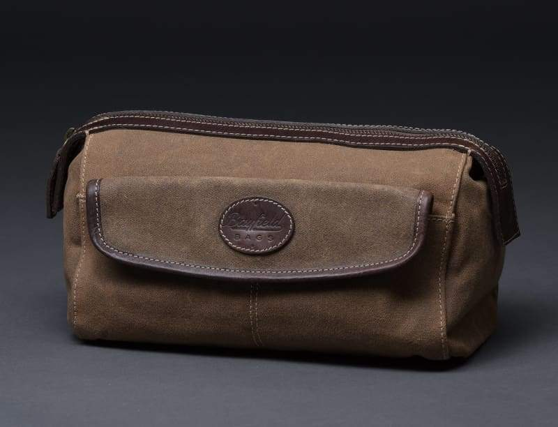 Best Men's Travel Toiletry Bag - Vintage Retro-Look Waxed Canvas - Allendales