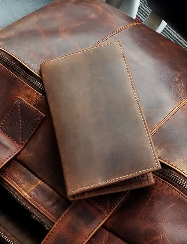 Best Travel Wallet – Mens Long Wallets – 9 Card Slots – Billfold Pocket - Bayfield Bags