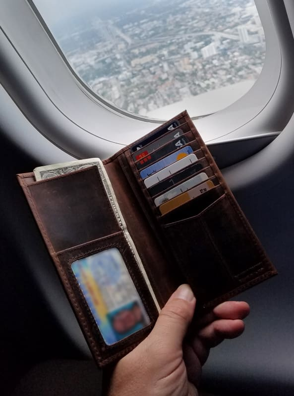 Best Travel Wallet – Mens Long Wallets – 9 Card Slots – Billfold Pocket - Allendales