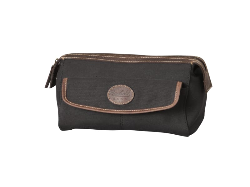 Canvas Dopp Kit for Men by Bayfield Bags - Mens Cosmetic Travel Bag Overnight Toiletry Bag - Allendales