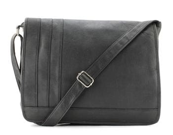 Flap Over Top Leather Laptop Messenger Bag - Leather Messenger Bag For Men - Bayfield Bags