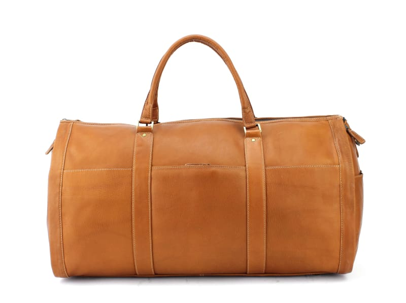 Large Leather Duffel Suit Bag For Business Man Travel - Allendales