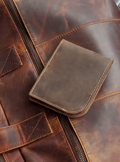 Leather Mens Wallet–Bifold Leather Mens Wallet–RFID Mens Wallet-Slim Front Pocket Style - Allendales
