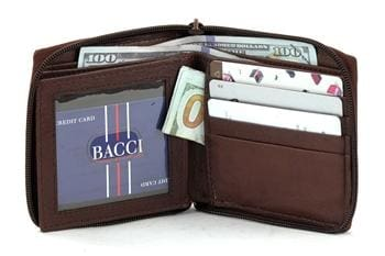 Mens Zippered Wallet - - Bayfield Bags