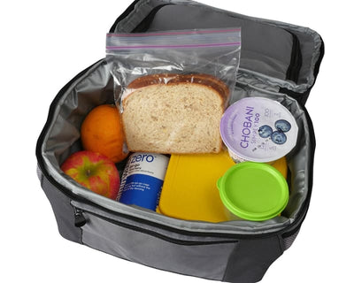 Office Lunch Bag For Men with No-Leak Liners, Insulated Double Decker Professional Lunch Box - Allendales