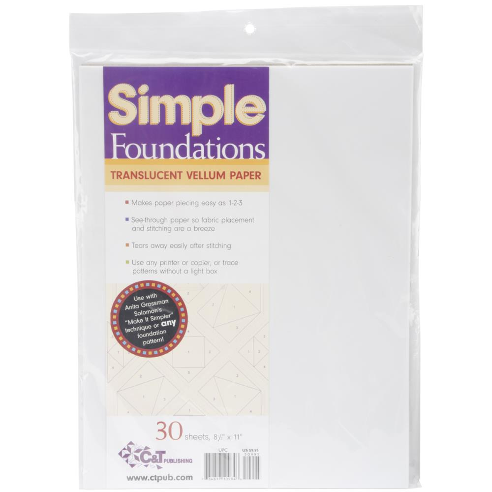 Simple Foundtations Translucent Vellum Paper (Single Sheet) - Scrap Of Your Life