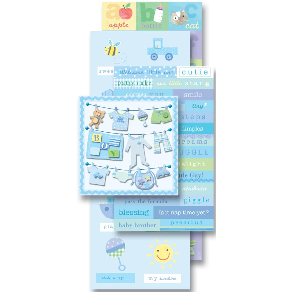 K&Company Flip Pack Sticker Embellishments Baby Boy - Scrap Of Your Life