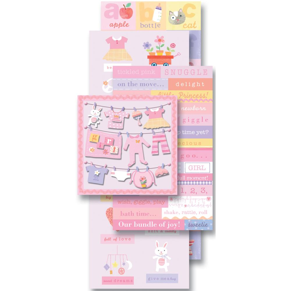 K&Company Flip Pack Sticker Embellishments Baby Girl - Scrap Of Your Life