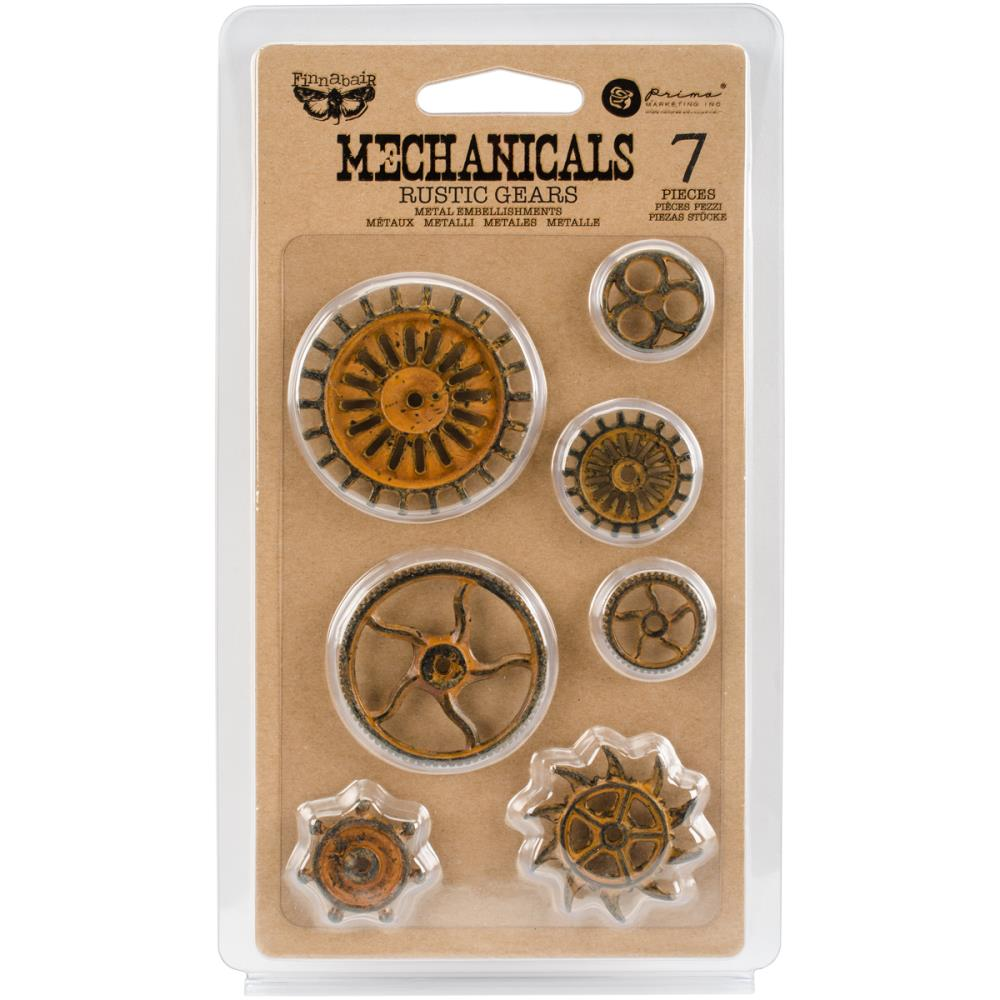 Finnabair Mechanicals Metal Embellishments Rustic Gears - Scrap Of Your Life