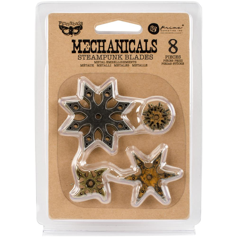 Finnabair Mechanicals Metal Embellishments Steampunk Blades - Scrap Of Your Life