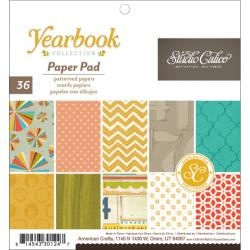 "Studio Calico Yearbook Paper Pad 6""X6"" 36 Sheets Single-Sided - Scrap Of Your Life"