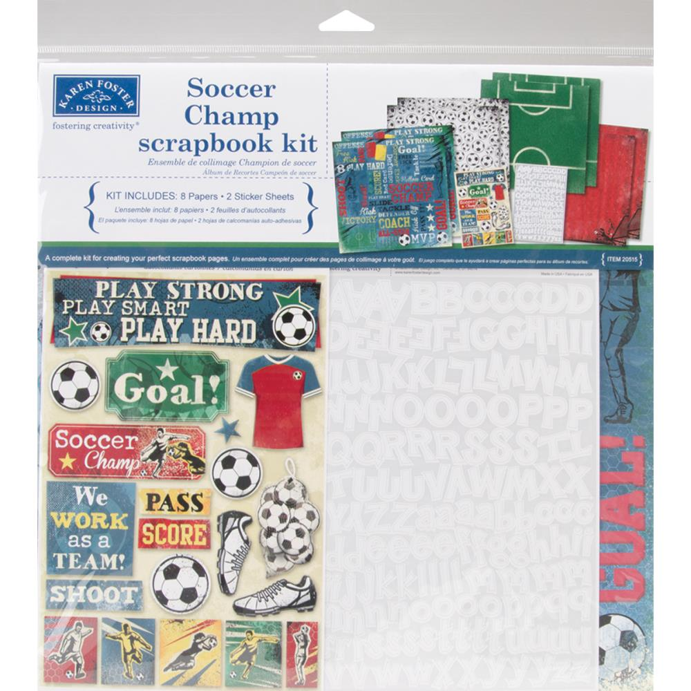Karen Foster 12 x 12 Collection Kit Soccer