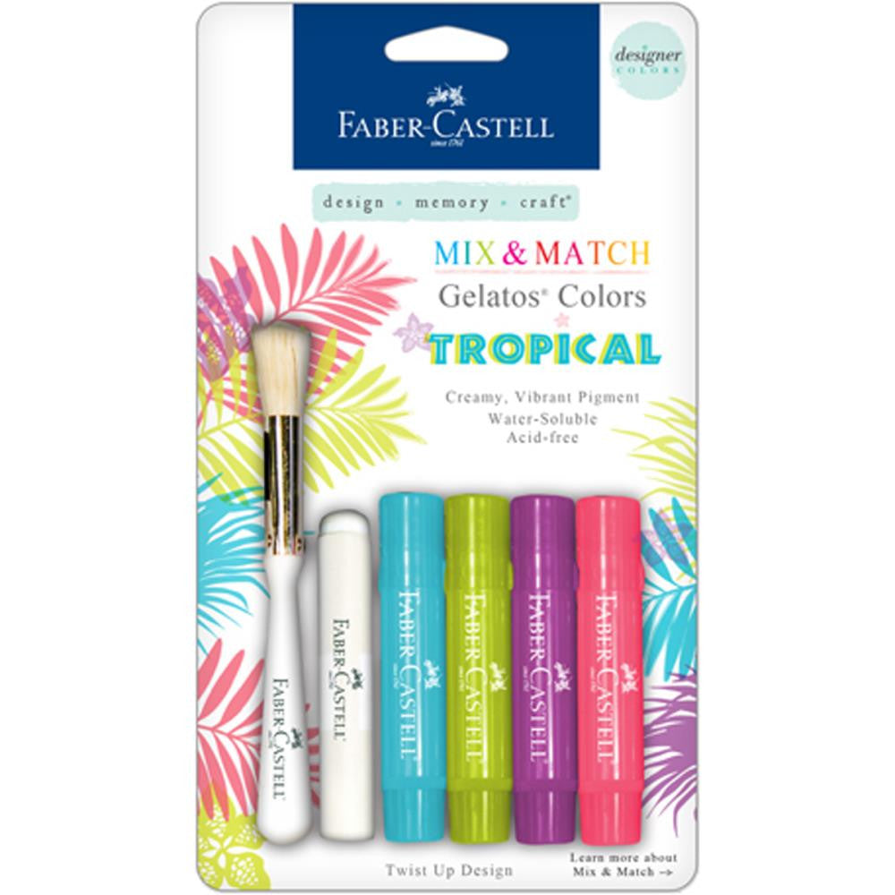 Faber Castell Gelatos Colors Kit Tropicals