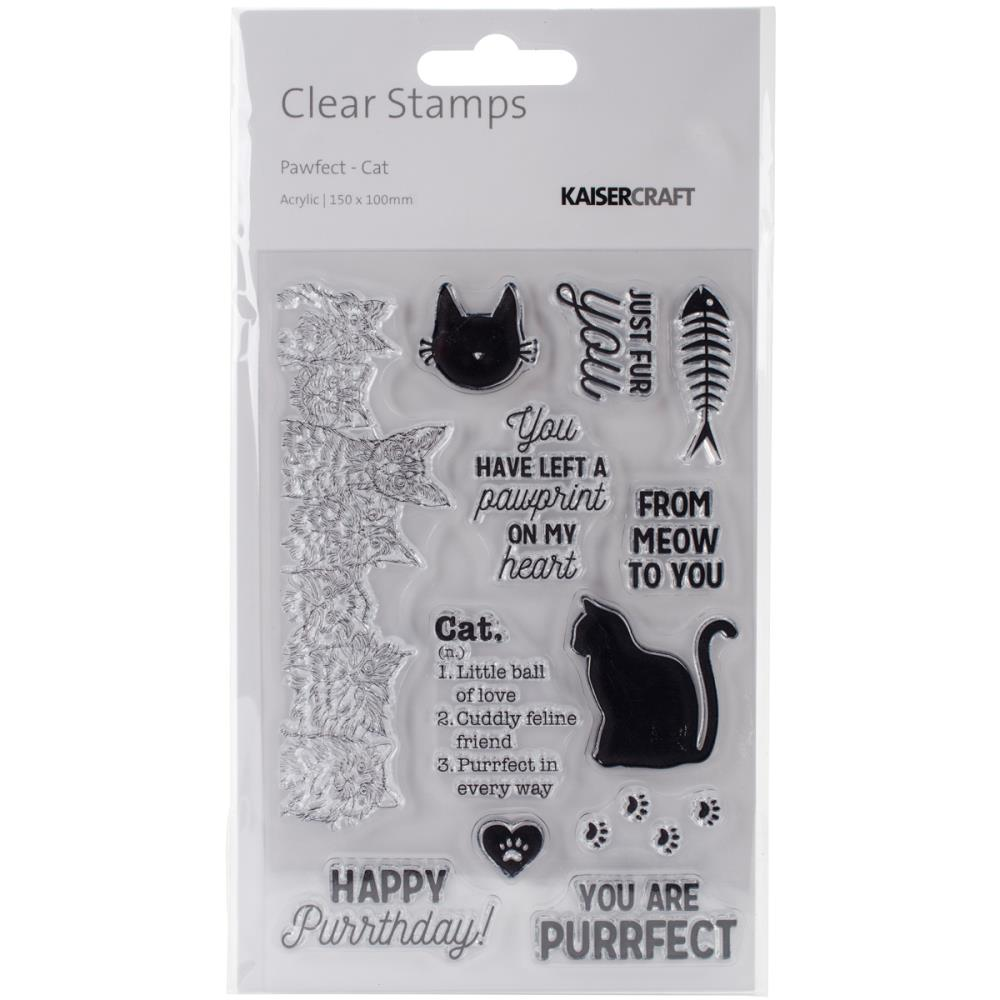 Kaisercraft Pawfect Clear Stamps  Cat