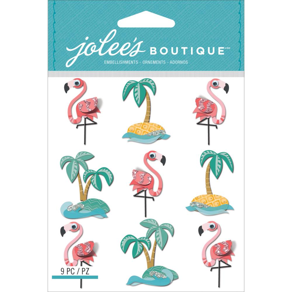EK Success Jolee's Dimensional Stickers Flamingo
