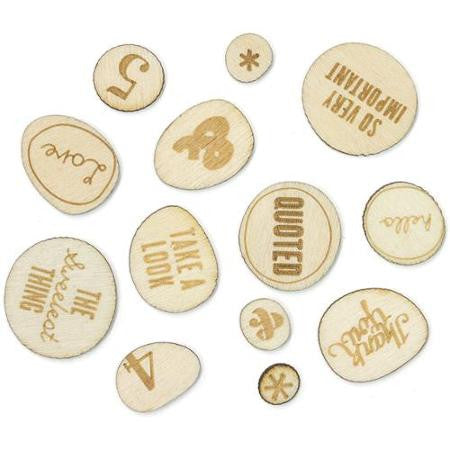 Studio Calico Sundrifter Laser-Cut Wood Veneer Shapes Phrases - Scrap Of Your Life