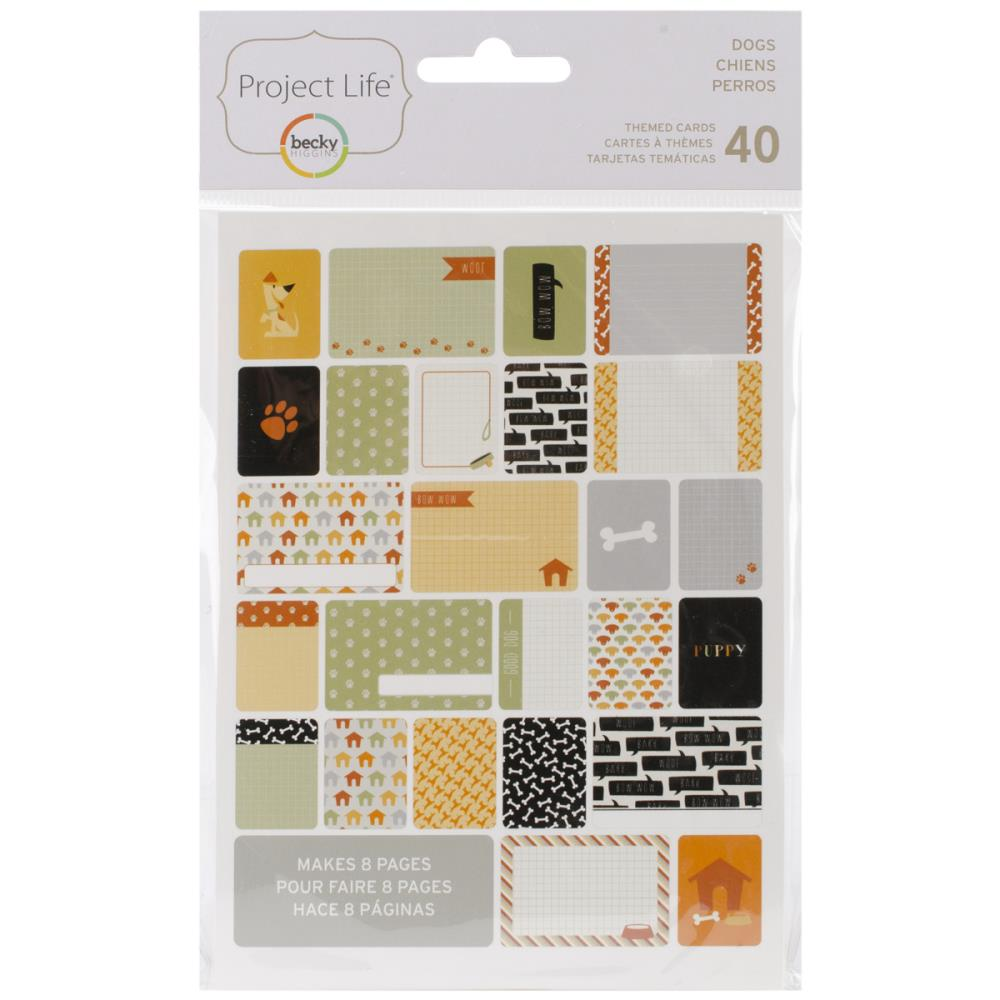 Project Life Themed Cards 40/Pkg Dog