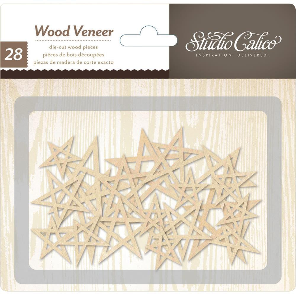 Studio Calico Wood Veneer Stars - Scrap Of Your Life