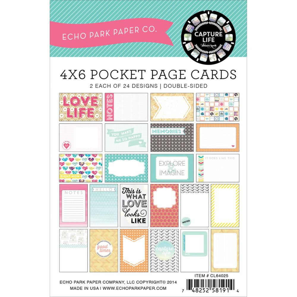 Echo Park Sunshine 6 x 4  Designer Cards Capture Life