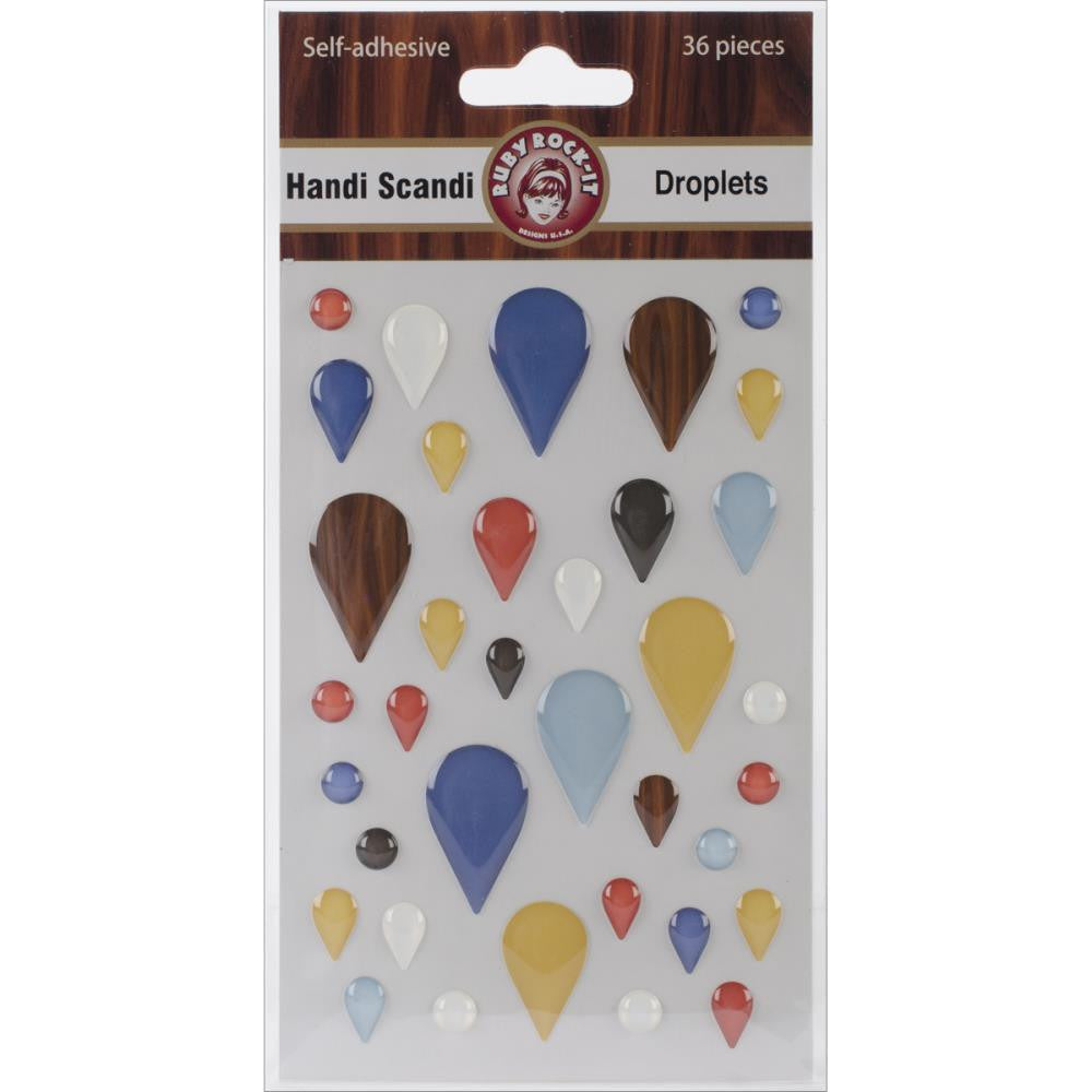 Ruby Rock-It Handi Scandi Self-Adhesive Droplets - Scrap Of Your Life