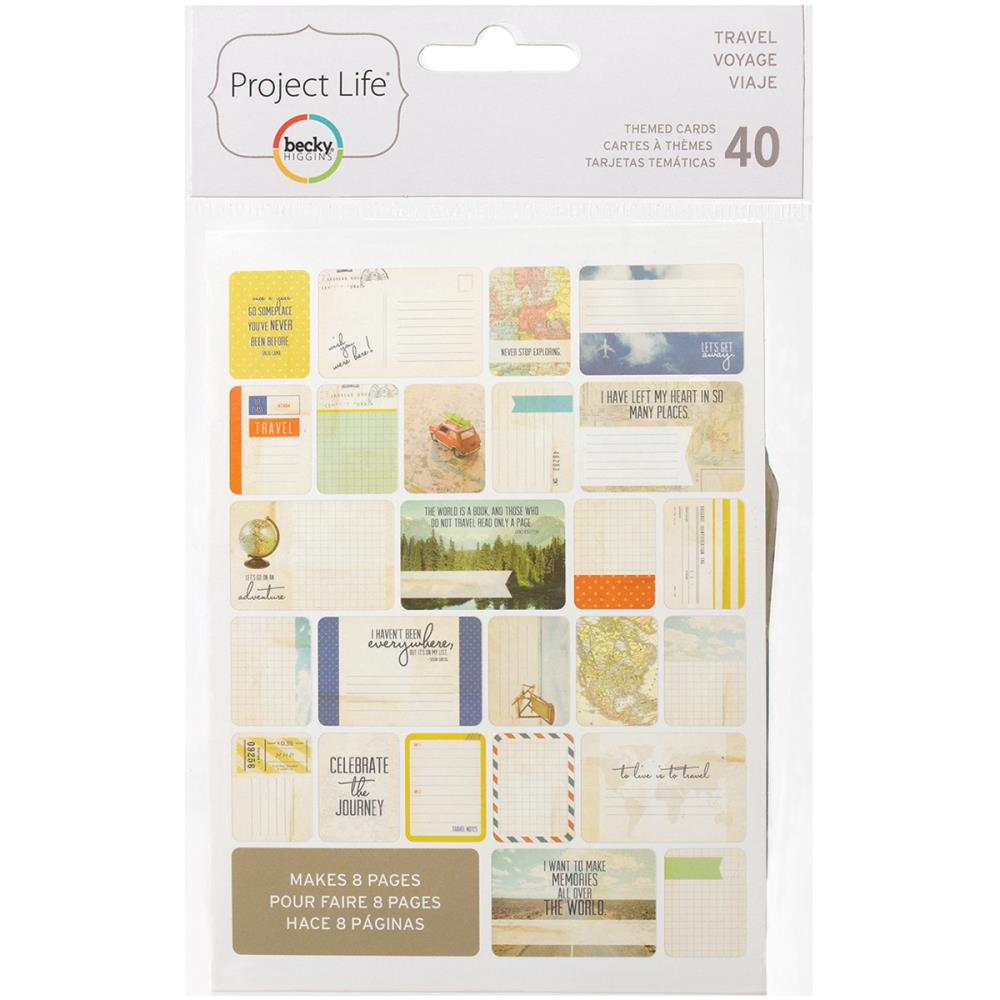 Project Life Themed Cards 40/Pkg Travel