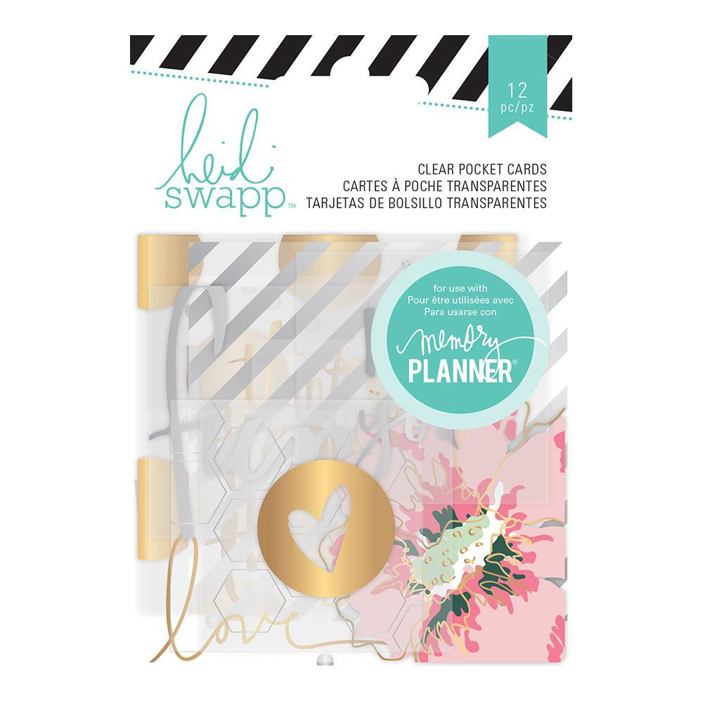 Heidi Swapp Hello Beautiful Clear Pocket Cards with Foil