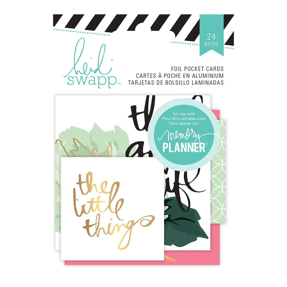 Heidi Swapp Hello Beautiful Embellishments Foil Pockets  Cards