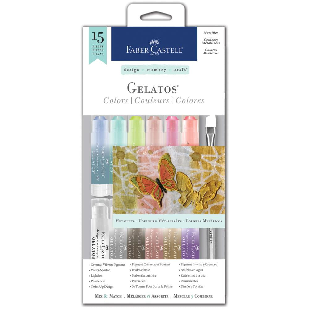 Faber Castell Mix N Match Gelatos Colors Kit Metallic - Scrap Of Your Life